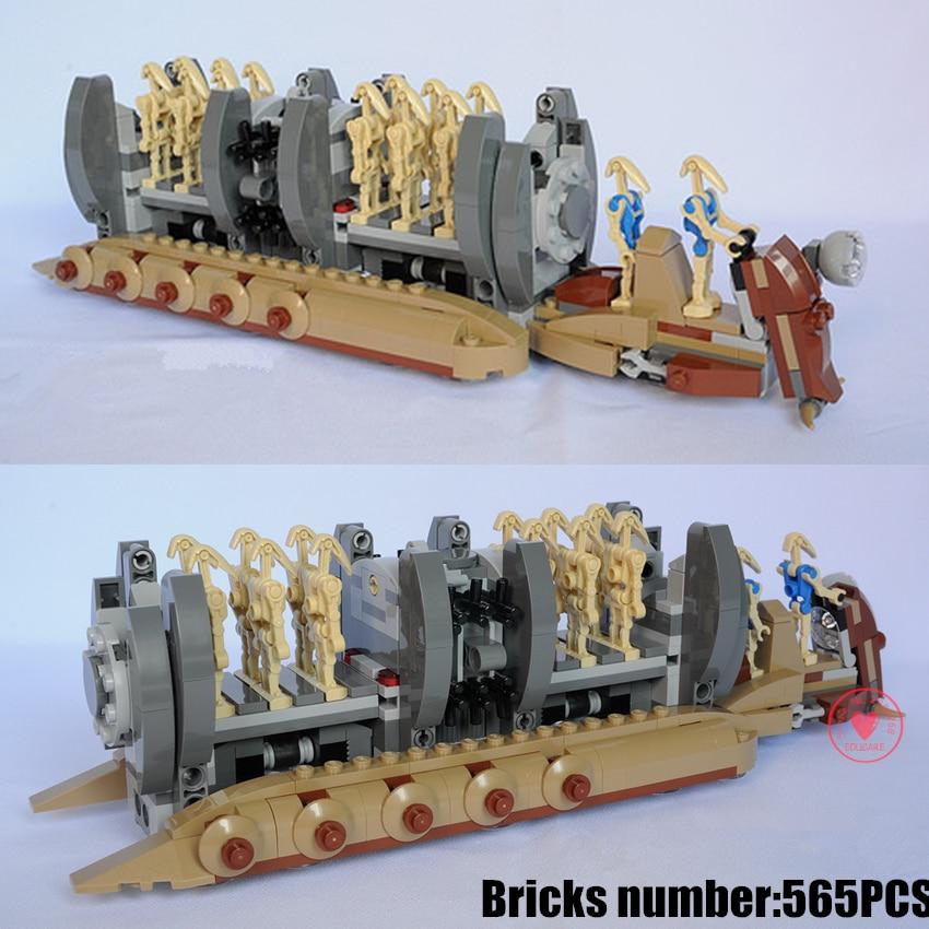NEW Star wars Battle Droid Troop Carrier fit legoings star wars figures fighter model Building Blocks bricks Toys Boys gift kid цена 2017