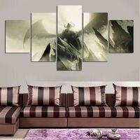 O envio gratuito de 5 painel HD impresso pintura a óleo Bat impressão em tela art home decor wall art pictures para sala de estar sobre tela F0561