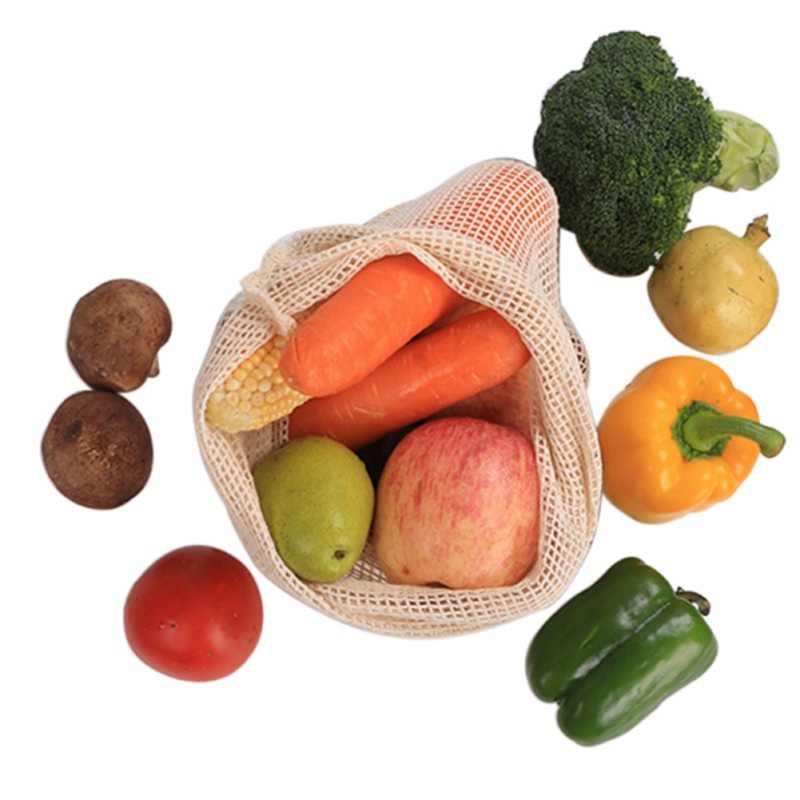 5-9 шт. многоразмерная хлопковая Сетчатая Сумка для хранения СУМОЧКИ в виде фруктов многоразовый шнурок сумка для овощей для Покупок Сумка для кухни