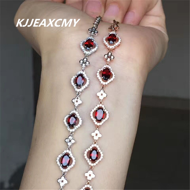KJJEAXCMY colorful jewelry, natural garnet, female bracelet, hand ornaments, 925 silver ornaments, crystal jewelry кран uni fitt шаровый etalon 3 4 нр вр с разъемным соединением 113t3000