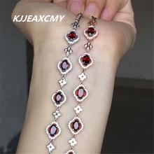 KJJEAXCMY colorful jewelry, natural garnet, female bracelet, hand ornaments, 925 silver ornaments, crystal jewelry 4mm natural garnet round beads bracelet fashion garnet jewelry bracelet