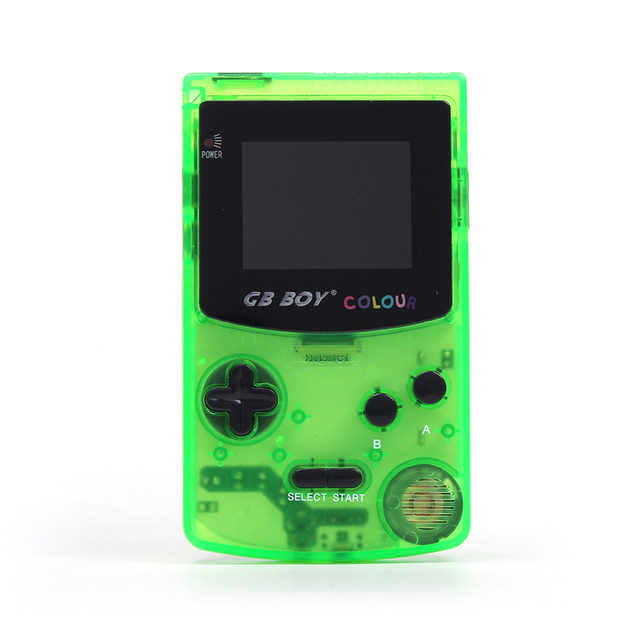 GB Boy Color Colour Handheld Game Consoles Game Player with Backlit 66 built-in games blue yellow green