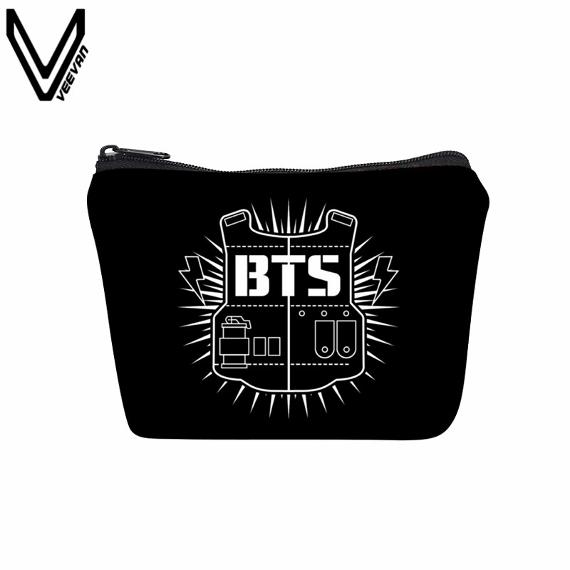 VEEVANV Kpop BTS Bangtan Boys BTS Canvas Wallets 3D Printing Coin Purses Young Forever Women Wallets JIMIN 95 SUGA 93 Key Bags regular short fxcnc aluminum moto motorcycles brake clutch levers for kawasaki zephyr 1100 all years brake clutch lever