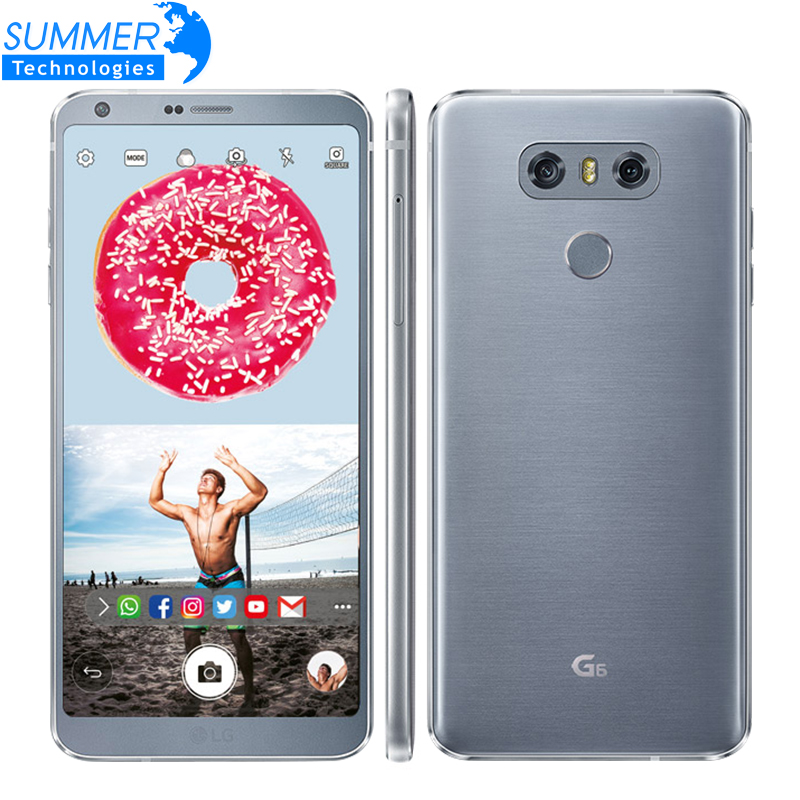 "Original Unlocked LG G6 H870DS Quad Core 4G LTE Android Dual Sim 4GB RAM 32GB ROM 5.7"" Dual 13MP Mobile Phone"