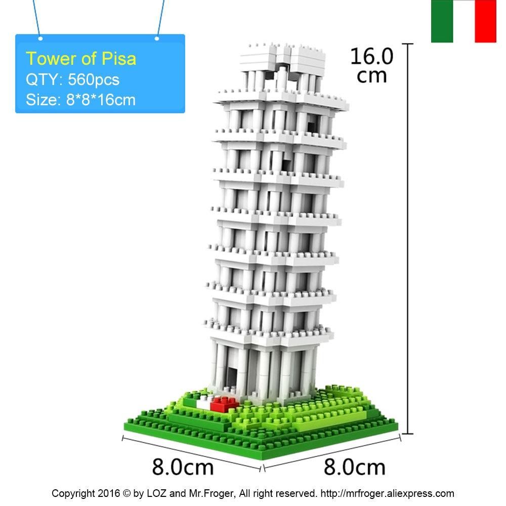 Mr.Froger LOZ Tower of Pisa Diamond Block World Famous Architecture - Byggklossar och byggleksaker - Foto 2