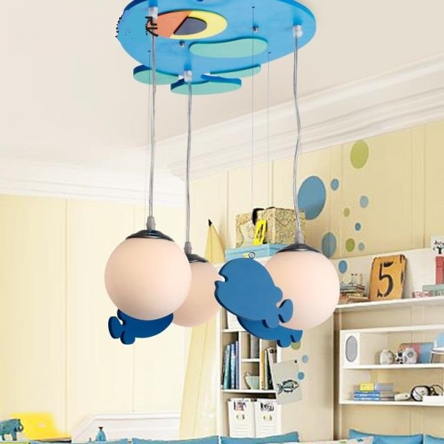 Children toy Modern 3 heads pendant light brief child lamps living room lights bedroom lamp cartoon lighting pendant lamps ZA