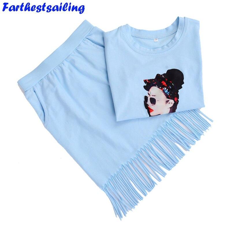 2018 Verão Meninas Roupas Set Algodão T-shirt + Saia Outfits Crianças Conjuntos de Roupas Esporte Meninas Terno Infantil para crianças Moda 2 PCS