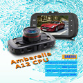 A12 DAB205 Ambarella DVR Carro 3.0 polegada Quad HD 2560*1440 P Tela 170 Graus Lente Grande Angular HDR Mini Car Camera Recorder Traço Cam