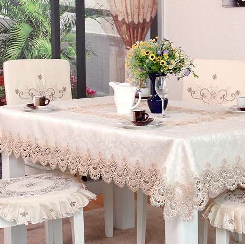High end water soluble lace table cloth Stylish hollow embroidered