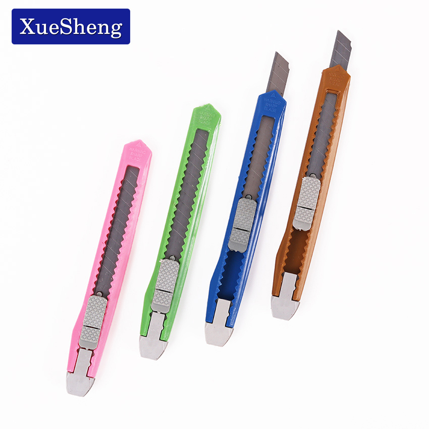 1PC New Box Cutter Students Utility Knife Snap Off Retractable Razor Blade Knife Color Random Stationery Random
