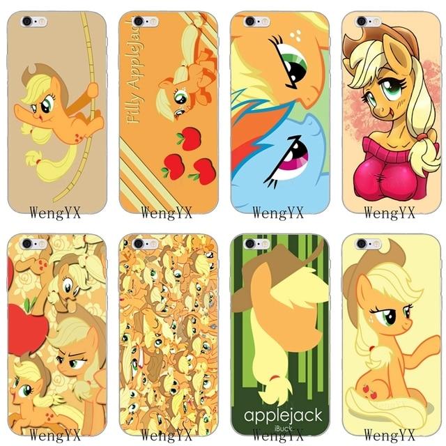 cartoon yellow my little pony Applejack silicone Soft phone case For LG G2  G3 mini spirit G4 G5 G6 K7 K8 K10 2017 V10 V20 V30