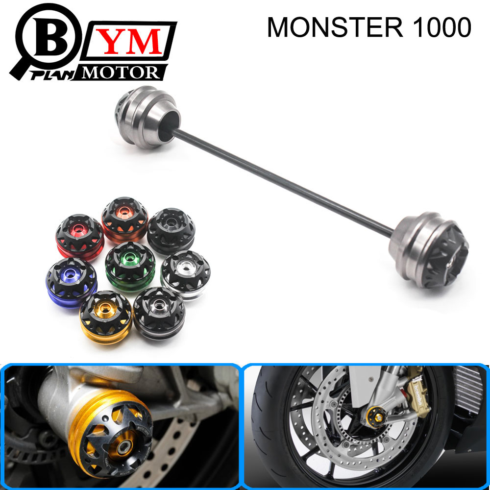 Free shipping for Ducati MONSTER 1000 2003-2010 CNC Modified+Motorcycle Front and rear wheels drop ball / shock absorber