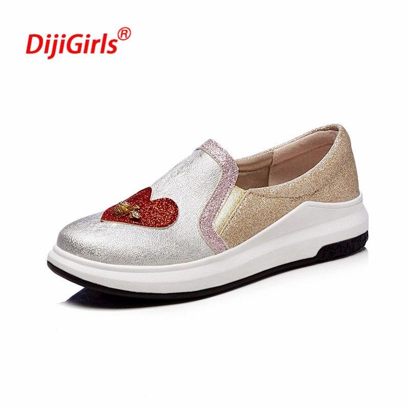 Rond Occasionnels silver Nouveau Size34 Chaussures Zapatos Rouge Abeille Bout Femmes Mujer Pu Amour En Printemps Cuir Mocassins Black 2018 43 qwdHO7q
