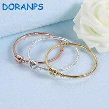 2019 NEW Brand Not Fade 925 silver bangle charm bracelet women chain jewlery making,1pz все цены