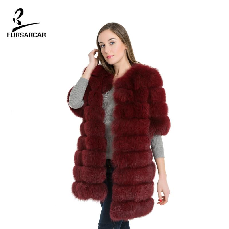 FURSARCAR Natürliche Echte Fuchspelzmantel Frauen Winter Natrual - Damenbekleidung - Foto 4