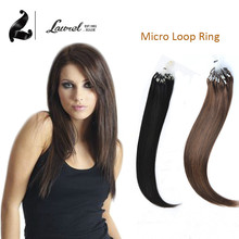 Hot Laurel Hair Micro Loop Ring Hair Extensions Unprocessed Remy Human Hair Straight 16-24Inches 100Strands Fast Shipping