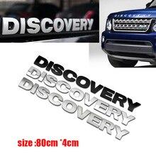 цена на 1Pcs Car Words Sticker Rover Discovery Front Hood Emblem head Bonnet Logo Decal ABS