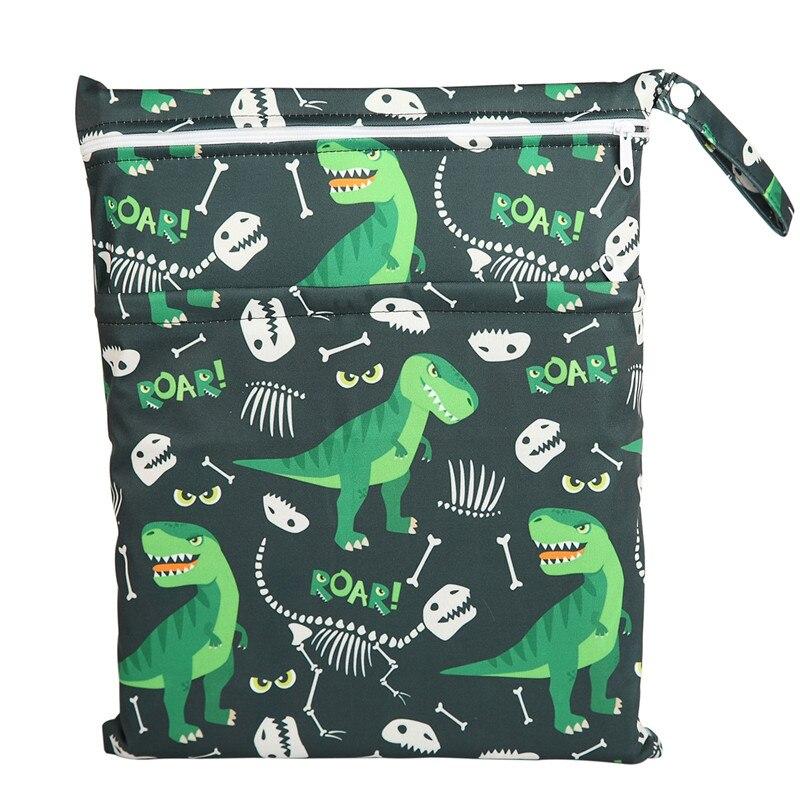 [Sigzagor] 1 Влажная сухая сумка с двумя молниями для детских подгузников, водонепроницаемая сумка для подгузников, розничная и, 36 см x 29 см, на выбор 1000 - Цвет: WH57