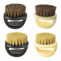 Beard Comb Hairdresser Dust Brush Anti Static Boar Bristle Ring  Salon Hair Sweep Brushes Shaving Facial Men's Mustache Brush