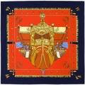 100 cm * 100 cm 100% Seda de la Tela Cruzada de la Marca Euro Francia Barco Buque de Guerra de Las Mujeres Femal Bufanda Cuadrada Primavera Imprimir Bufandas chal 6112