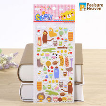 1 sheet Animal Estate kawaii PVC stickers album diary Notebook DIY paper decorative sticky sticker for