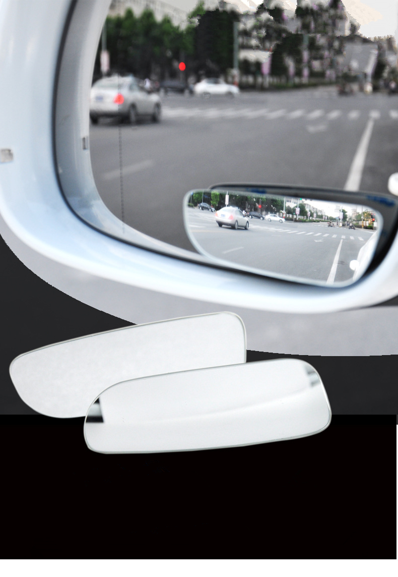 Auto Blind Spot Mirrors 360 Adjustable Convex Mirror Frameless Wide Angle Rear View Mirror For Car SUV Truck Motorcycle 2pc