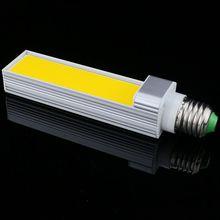 1 шт./лот лампа с горизонтальным разъемом светодиодный ЛАМПА 10 Вт 12 Вт 15 Вт COB светодиодный E27 G24 G23 COB кукурузы светильник лампа теплый белый AC85V-265V бортовой светильник Инж