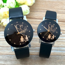 Горячая Saat часы женские 1 пара Студенческая пара стильные Spire стеклянные кварцевые часы с ремешком Relogio Feminino