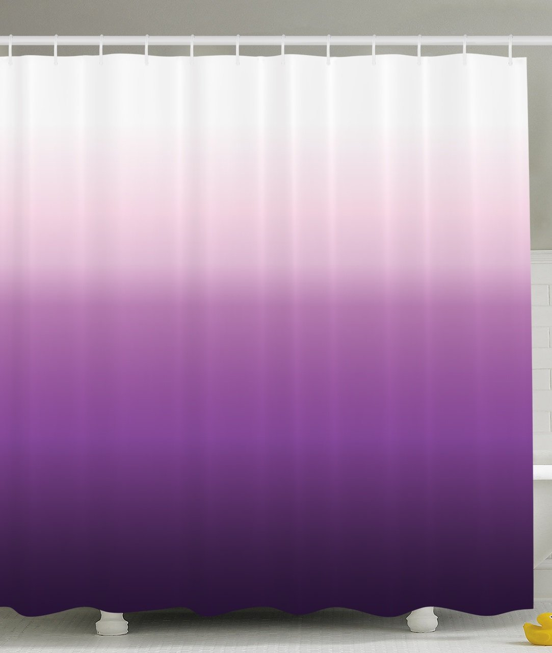 Us 13 02 43 Off Purple Shower Curtain Home Decorations Art Bathroom Decor Long Polyester Fabric Set Ombre Colorful Design White Purple In Shower
