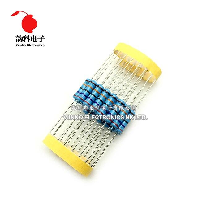 20pcs 2W Metal Film Resistor 2W 1% 0R - 2.2M 0 2.2 10 100 120 150 220 270 330 390 470 1K 2.2K 4.7K 10K 15K 100K 470K 1M ohm 2