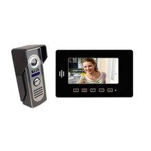 """Freeship 7 """"Apartamentos video Monitor video de la puerta sistema de intercomunicación de Seguridad Táctil de la cámara Video de La Puerta Teléfono Intercom Timbre de la Puerta"""