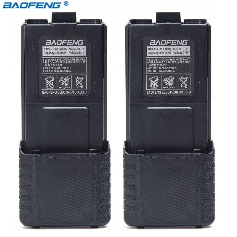 2 pcs D'origine BAOFENG UV-5R 7.4 v 3800 mah Li-ion Batterie Pour baofeng Talkie Walkie UV5R BF-F8 uv5r uv5re uv-5re two Way Radio