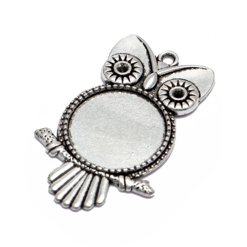 10pcs-20mm-25mm-Blank-Base-Antique-Bronze-Owl-Pendant-Settings-Cabochon-Base-Bezel-Trays-Blank-Fit
