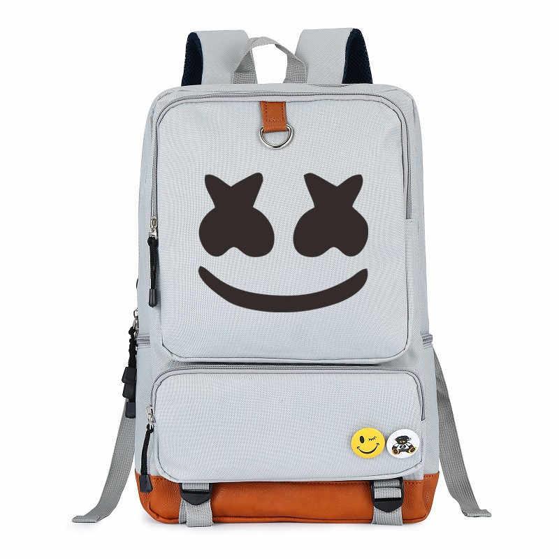 DJ Marshmellow школьные сумки новый стиль реквизит косплей костюм для детей для женщин и мужчин Зефир Симпатичные Рюкзаки