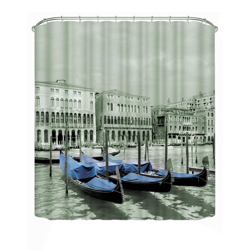 Bathroom Shower Curtain Decoration Waterproof Fabric Modern Bath Shower Curtains Print (1#)(180*180cm) E5M1