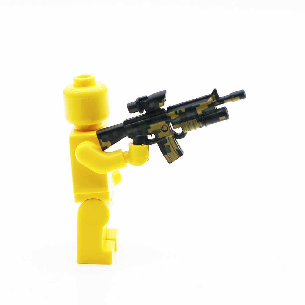 Пистолет Военный Набор оружия спецназ команда строительные блоки городская полиция солдат фигурка аксессуары WW2 армейская серия кирпичная игрушка для детей