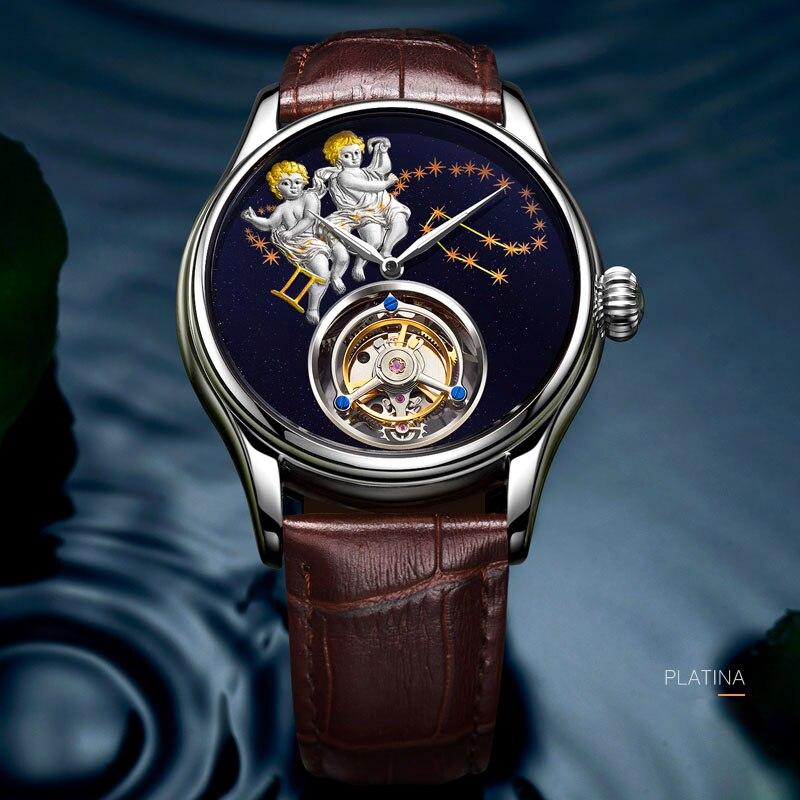 Original High-end Automatic Mechanical Watch Men's Leather Waterproof Watch Top Brand Fashion Gift Watch Relogio Masculino