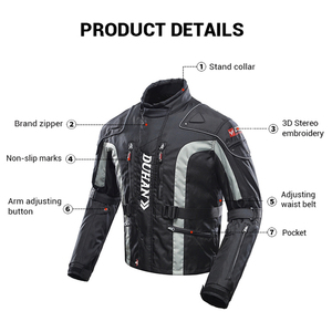 Image 4 - DUHAN Motorcycle Jacket Moto Motocross Pants Enduro Riding Trousers Motocross Off Road Racing Sports Knee Protective Trousers