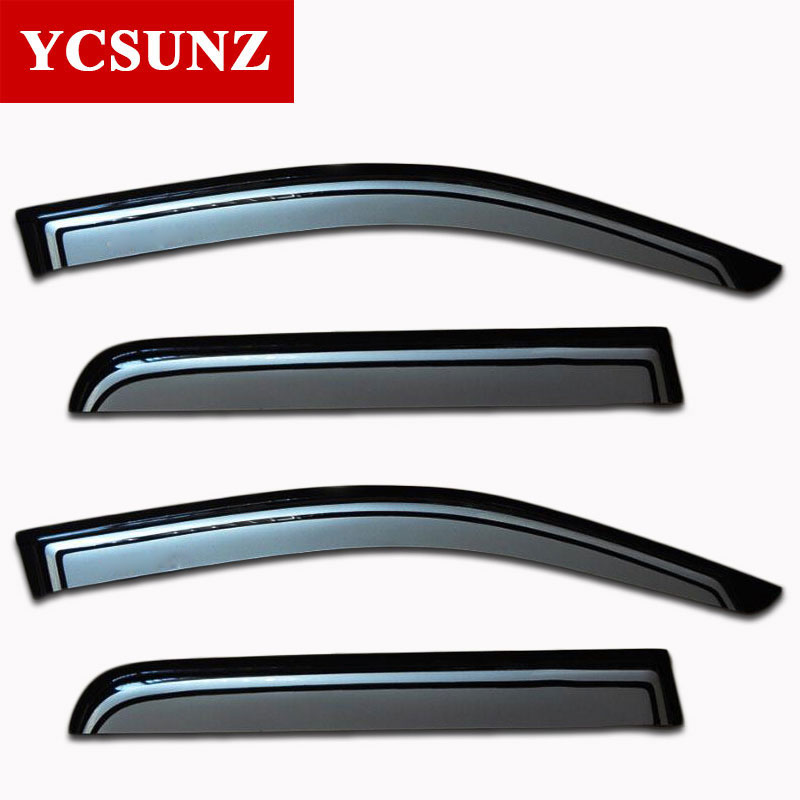 For Toyota Hilux Car Wind Deflectors Window Guards Rain Visor For Toyota Hilux Vigo Pickup 2005-2010 Hilux Wind Deflector Guards