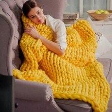 New Useful DIY Super Big Soft Chunky Wool Yarn Bulky Arm Knitting Wool Roving Crocheting