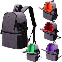 Backpack Camera Bag Case Travel Shoulder Messenger for Sony Alpha A58 A57 A55V A56 A55 A33 A35 A37 A65 A68 A77 A99 Mark II 2