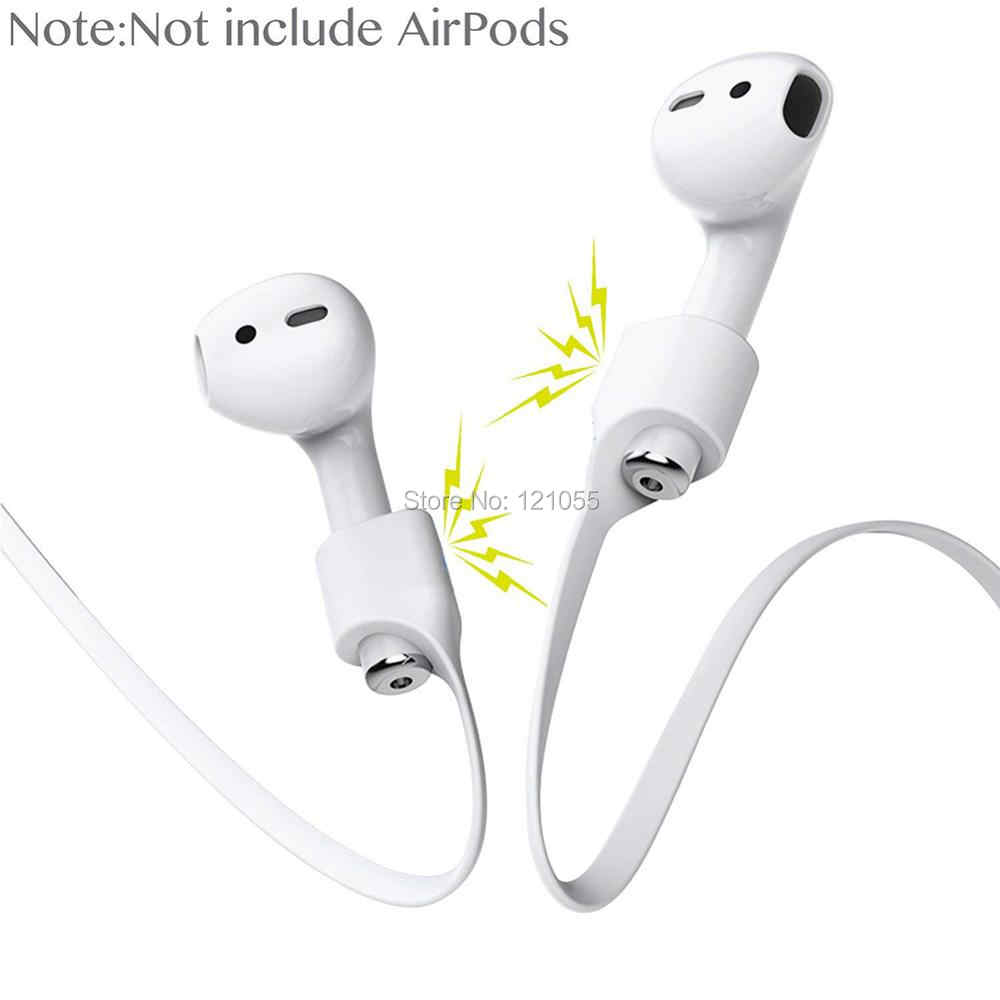 e365fde73d0 AirPods Strap Magnetic Anti-lost Neck Silicone Cord for Apple Wireless  earphone holder Sport magnet
