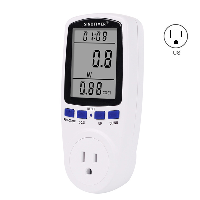цена на US Plug Digital Voltage Watt Wattmeter Consumption Energy KWh Power Meter 120V 110V AC Socket Electricity Fees Analyzer Monitor