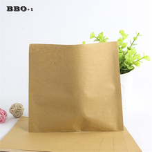 100pcs/pack Solid Color Bakery Packaging Food Oilproof Paper Bag Sandwich Donut Bread Kraft Food Package Bags