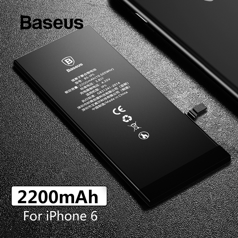 Baseus Replacement-Battery IPhone High-Capacity 2200mah For Free-Repairing-Tools-Kit