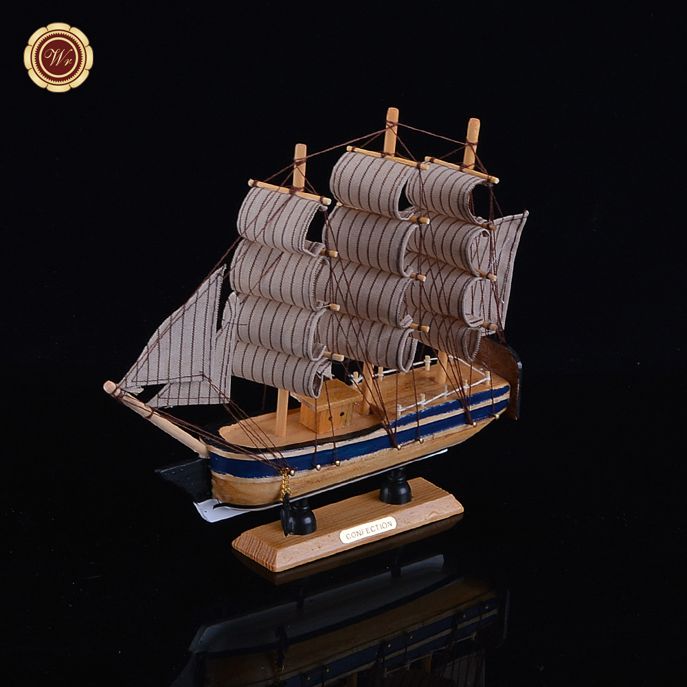 WR Wooden Sailing Boat Model Wood Scale Model1/80 Scale Assembly Model Ship  Building Best