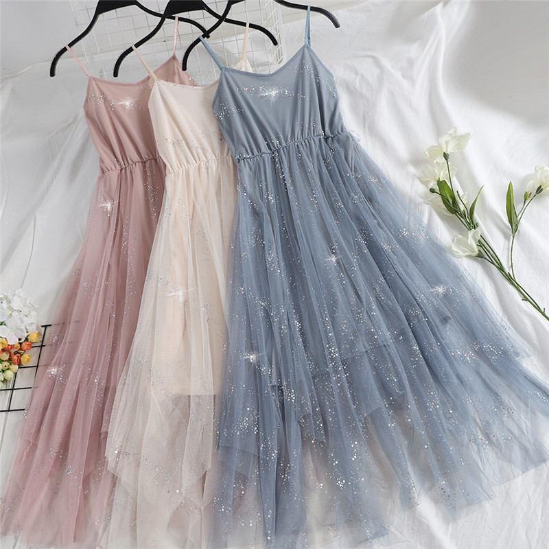 Hiawatha V-Neck Sequined Backless Sexy Dress Women Elegant Mesh Strap Dresses Summer Party Sleeveless Vestidos L9209 6