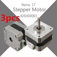 3Pcs Nema 17 Stepper Motor Bipolar 4 leads 34mm 12V 1.5 A 26Ncm(36.8oz.in) 3D Printer Motor 42SHD0001 Hot