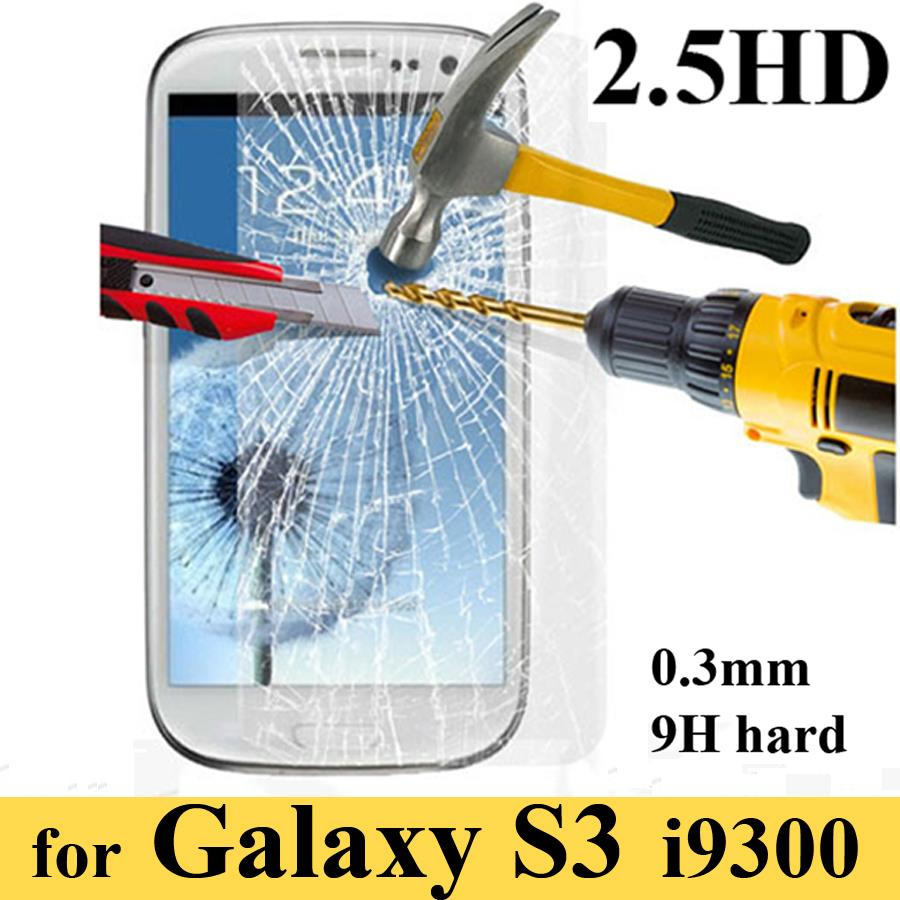 2016 new For Samsung Galaxy S3 safety Tempered Thin HD Clear Screen Protector Film protective glass for samsung s3 i9300 glass