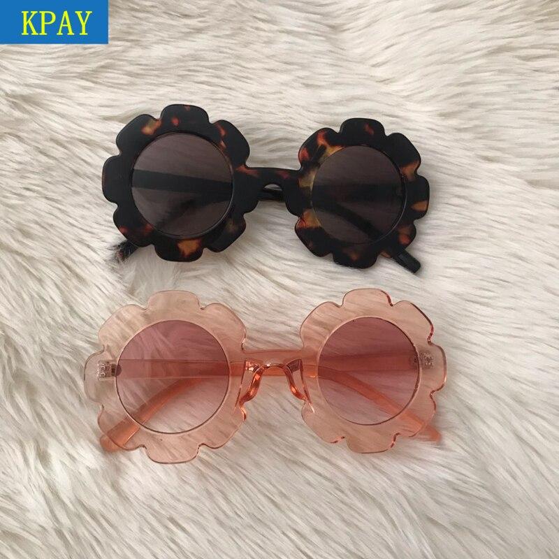 KPAY Vintage Kids Sunglasses Child Sun Glasses Round Flower Gafas Baby Children UV400 Sport Sunglasses Girls Boys Oculos De Sol in Sunglasses from Mother Kids